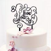 Decoro per torta  - I Love you