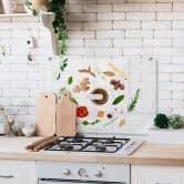 Spritzschutz Küchenkräuter - Transparent