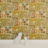 Versace wallpaper Vliestapete Decoupage Tapete metallic, creme, grün