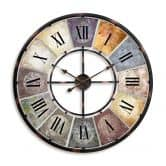 Horloge murale métallique XXL vintage  Ø80