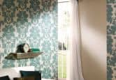 A.S. Création Pattern wallpaper Wallpaper Temptation Beige, Blue, Metallic