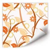 Wallprint W - Blumengarten orange