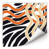 Wallprint W - Welle orange