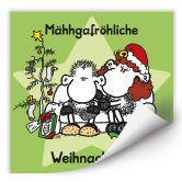 Wallprint W - sheepworld Mähhgafröhliche Weihnachten!