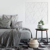 Wandsticker + Zierleisten Abstract Lines - quadratisch