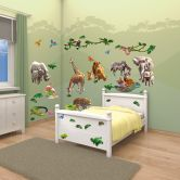 Muursticker Set Jungle Avontuur 54 dlg.