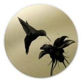Alu-Dibond round gold effect - Ireland - Hummingbird