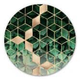 Alu-Dibond Fredriksson - Natur trifft Geometrie - Rund