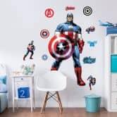 Wandsticker Captain America