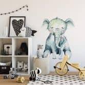 Muursticker Kvilis - Baby Olifantje