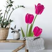 Adesivo murale – Tulipani rosa