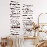 Wandtattoo Keine perfekte Familie