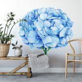 Wandtattoo XXL Blaue Hortensie