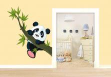 Muurstickers - Muursticker Klimmende Panda