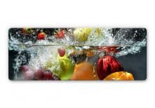 Glass Prints - Refreshing Fruit Panorama Glass art