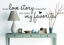 Muurstickers - Muursticker Every Love Story...