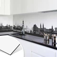 Küchenrückwand - Alu-Dibond Kupfereffekt - Mein Hamburg   wall-art.de