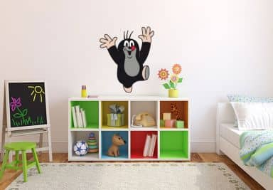 kleiner maulwurf fanshop wandtattoos f r kinder wall. Black Bedroom Furniture Sets. Home Design Ideas