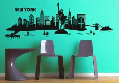 wandtattoo skylines weltst dte als wandtattoos. Black Bedroom Furniture Sets. Home Design Ideas