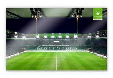 vfl wolfsburg fanshop wanddeko f r fans wall. Black Bedroom Furniture Sets. Home Design Ideas