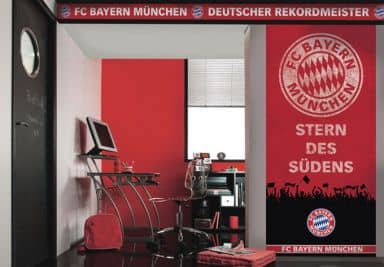 fc bayern m nchen fanshop wandtattoos tapeten fototapeten wall. Black Bedroom Furniture Sets. Home Design Ideas