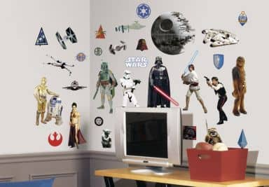 star wars wandtattoo wall art star wars shop wall. Black Bedroom Furniture Sets. Home Design Ideas