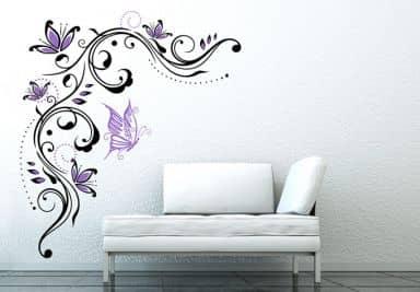 Wandtattoo baum ranken wall - Wandtattoo lila ...