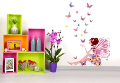 kinderzimmer wandtattoos f r m dchen wandtattoo wall. Black Bedroom Furniture Sets. Home Design Ideas