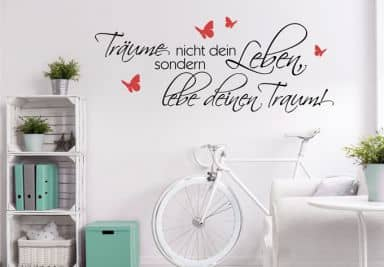 wandtattoo wandtattoos wandspr che wandzitate wall. Black Bedroom Furniture Sets. Home Design Ideas