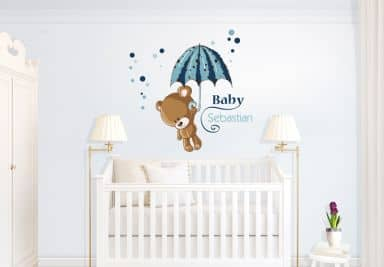 wandtattoos mit kindernamen wall. Black Bedroom Furniture Sets. Home Design Ideas