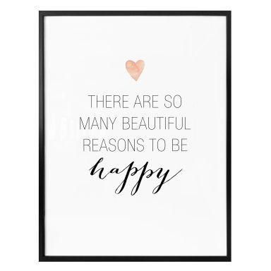 Poster Confetti & Cream - Many reasons to be happy