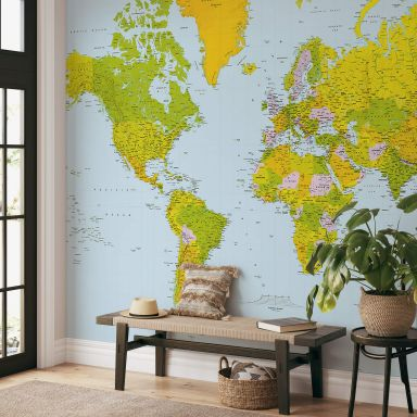 Fototapete Papiertapete Map of the World