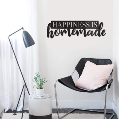 Acrylbuchstaben Happiness is homemade