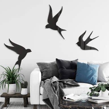 Acryldeko Vögel (3-teilig)