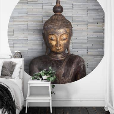 Fototapete Thailand Buddha - Rund
