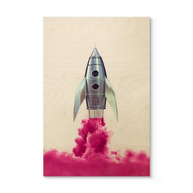 Holzposter Fuentes - Rocket