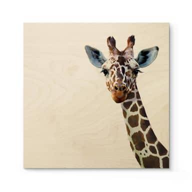 Houten Poster Graves - Giraffe