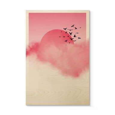 Holzposter Nordic Creators - Pink Sunshine