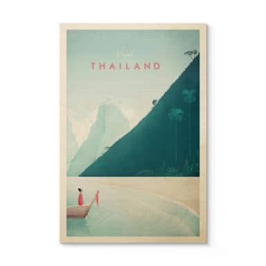Holzposter Rivers - Thailand