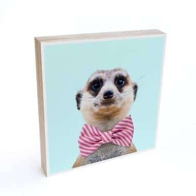 Houten Decoratieblok Fuentes - Meerkat