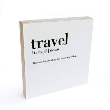 Bloc en bois à poser - Définition - Travel