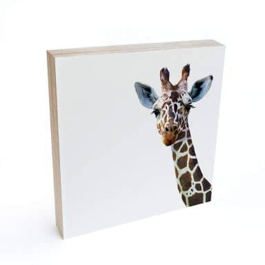 Houten Decoratieblok Graves - Giraf