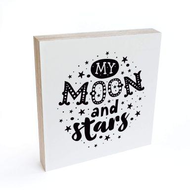 Houten Decoratieblok My Moon and Stars