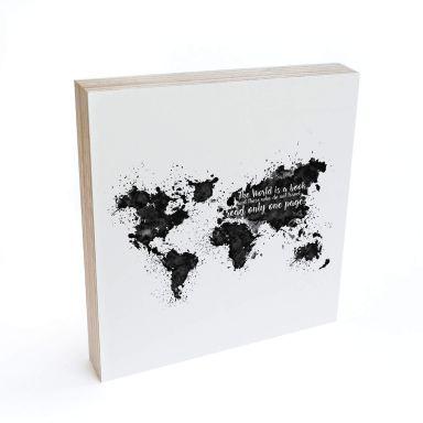Bloc en bois à poser  - The World is a book