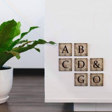 Decorative Letters Scrabble – vintage