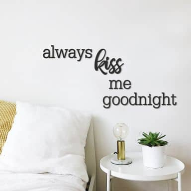 MDF - Holzdeko always kiss me goodnight