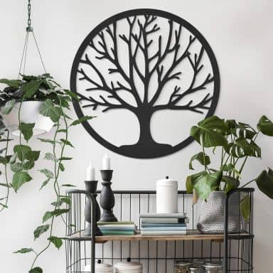 MDF Decoratie Tree of Life - Rond