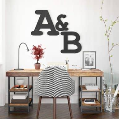 MDF Decoratieletters - lettertype Courier