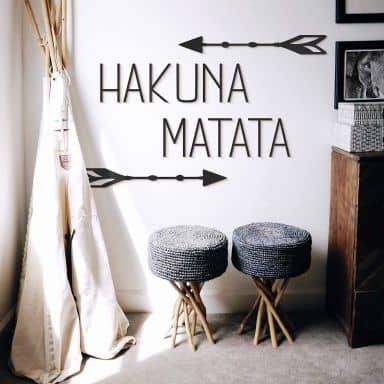 MDF Decoratie Hakuna Matata met Pijlen