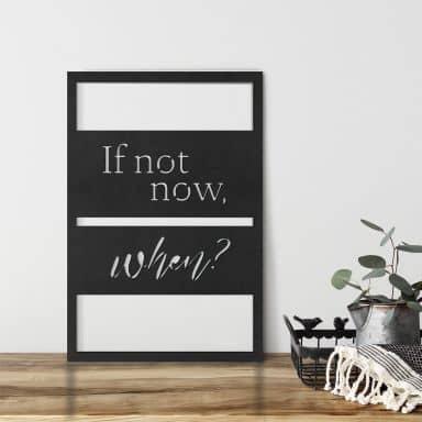 MDF - Holzdeko If not now, when